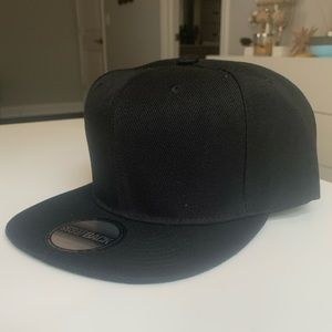Classic Black Snap Back Cap